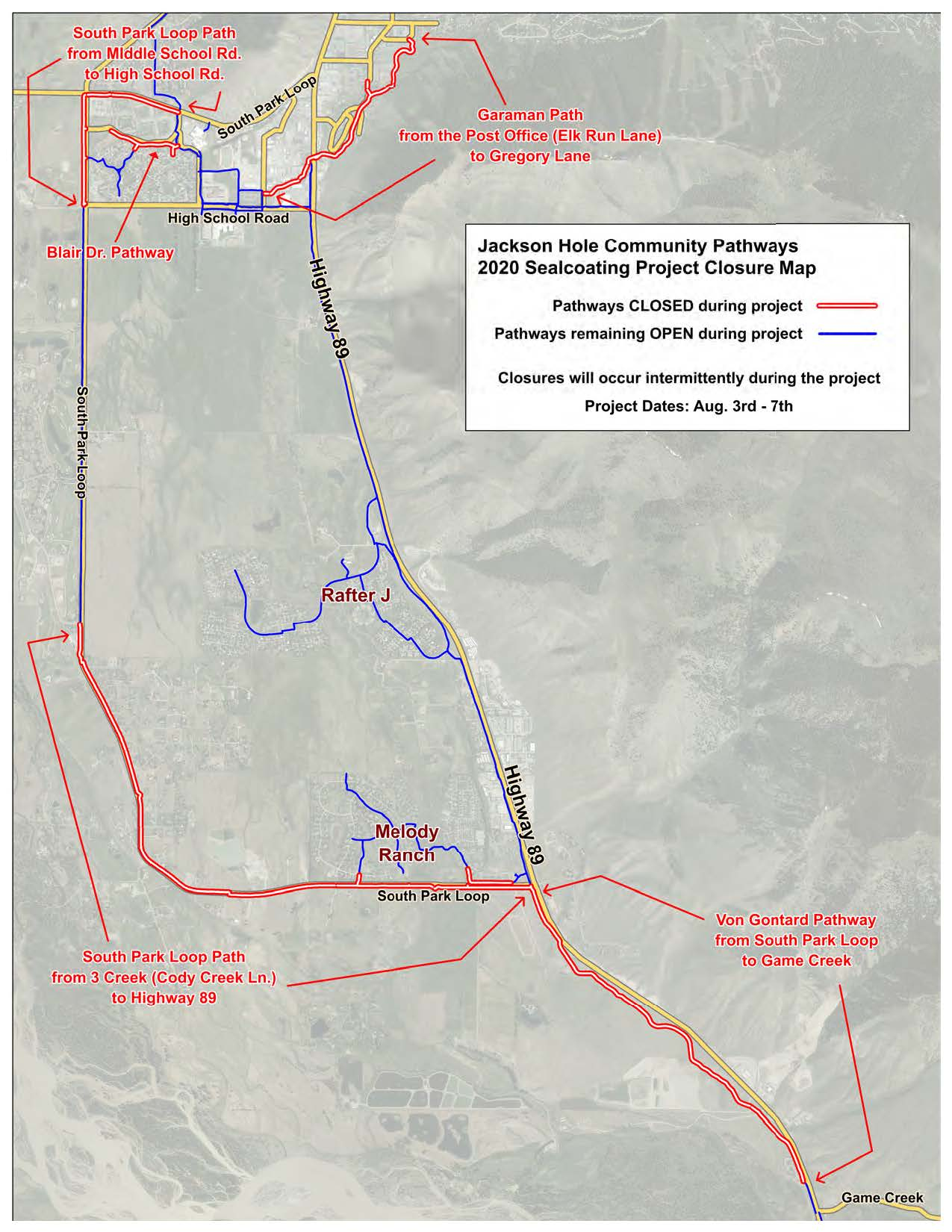 2020 Sealcoating - Overview Closure Map