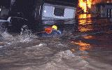A Rescuer in a Flood