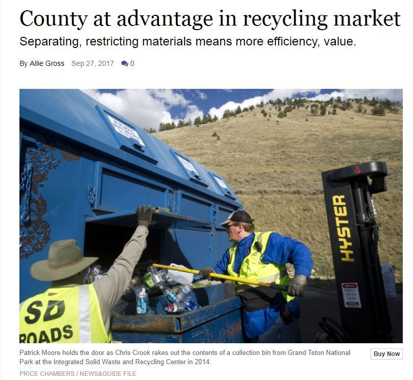 Jackson Hole News and Guide Recyce Article