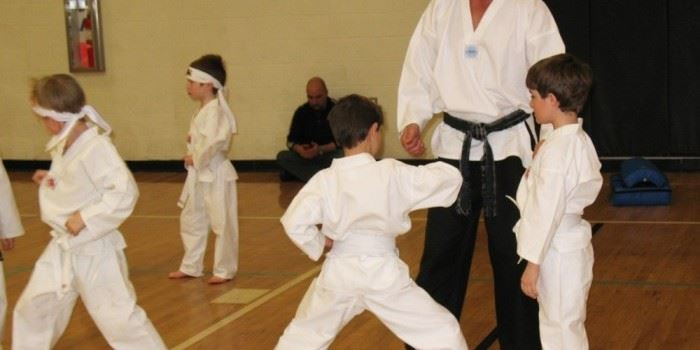 Youth Practicing Taekwondo